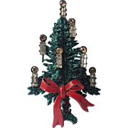 Austria Candles & Bow Christmas Tree Pin, Book Piece