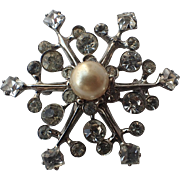 SCARCE Castlecliff 1945 Snowflake Sterling Brooch, Magazine Ad Piece