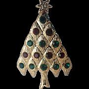 Lianna, Inc. (LIA) Quilted Diamond Christmas Tree Pin, Book Piece