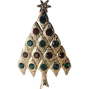 Lianna, Inc. (LIA) Quilted Diamond Christmas Tree Pin, Book Piece