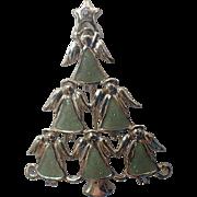 Angel Flock Christmas Tree Pin, Book Piece