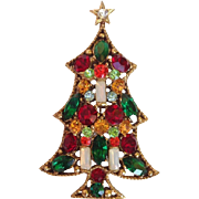 Regency RARE Candle Christmas Tree Pin, Book Piece