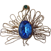 Napier 1950's Peacock Bird Brooch