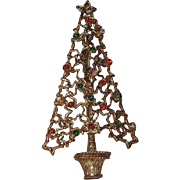 RARE Tancer II Cut-Out Stars Christmas Tree Pin, Book Piece