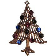 Trifari 1966 Briolette Christmas Tree Pin, Book Piece
