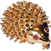 Boucher 1965 Hedgehog Pin