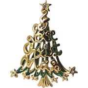 SFJ Signed I Love Christmas Tree Pin