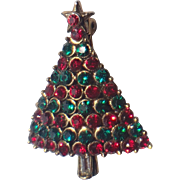 RARE Hollycraft Petite Christmas Tree Pin, Book Piece