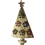 Flower Power 1960's Christmas Tree Pin