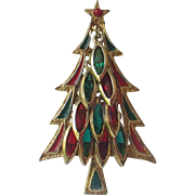 RARE Tancer II Glass Charms Christmas Tree Pin, Book Piece