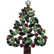 Talbots Tri-Green Holly Berry Christmas Tree Pin, Book Piece