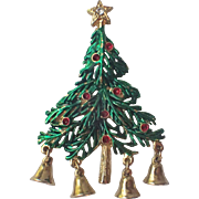 Jingle Bells Christmas Tree Pin, Book Piece