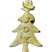 Roman JOY Words Angel Christmas Tree Pin, Book Piece