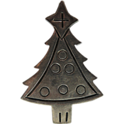 Sterling World Silver Christmas Tree Pin/Pendant