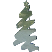 SCARCE James Avery Signed Sterling Christmas Tree Pin, Book Piece
