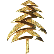 Mylu 1968 Modernist Christmas Tree Pin, Book Piece