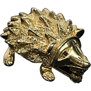 SCARCE Nettie Rosenstein Hedgehog Pin, Signed