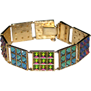 SCARCE Vendome 1960's Swarovski Crystal Color-Changing Bracelet