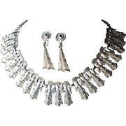 Coro Mid Century Cleopatra Collar Necklace, Drop Earrings, PRISTINE