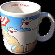 Nude beach Cow Mug, Vandor 1986 Vintage