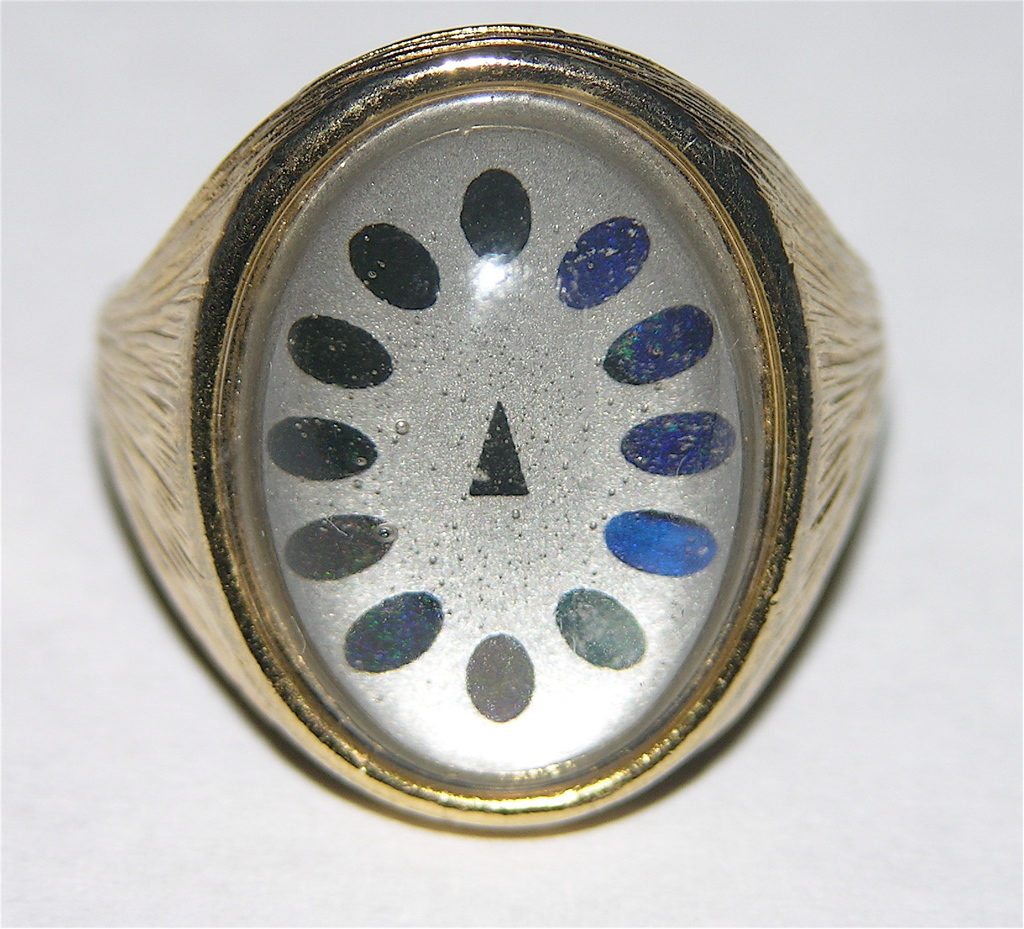 1960's Dial Face Mood Ring ~ Size 7.5 ~ Works!