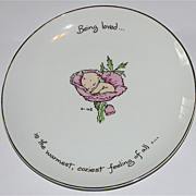 "1973 Rosie O'Neill Kewpie ""Being Loved"" Collector's Edition Plate"