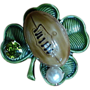 Original by Robert Fighting Irish Football 3D Shamrock Pin