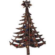 Pell Signed Garland Christmas Tree Pin ~ Book Piece