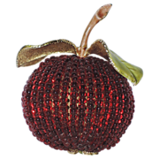 RARE Vendome 3D Apple Glass Bead Brooch