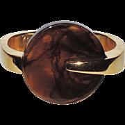 Trifari 1970's Kunio Matsumoto Signed Clamper Bracelet
