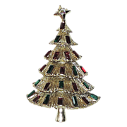 Kramer of New York 3D Tiered Christmas Tree Pin ~ Book Piece