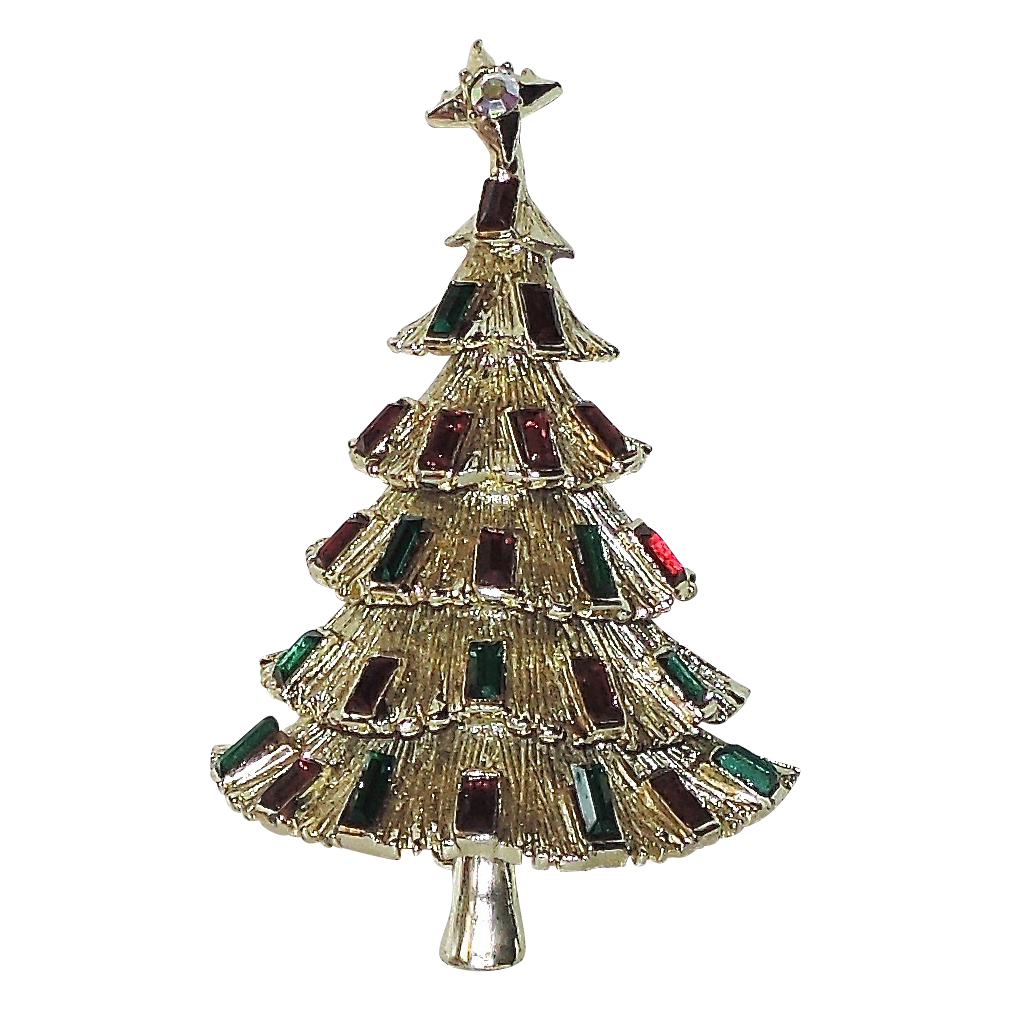 Kramer of New York 3D Tiered Christmas Tree Pin ~ Book Piece