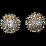 Castlecliff 1960's Fireworks Starburst 3D Domed Earrings