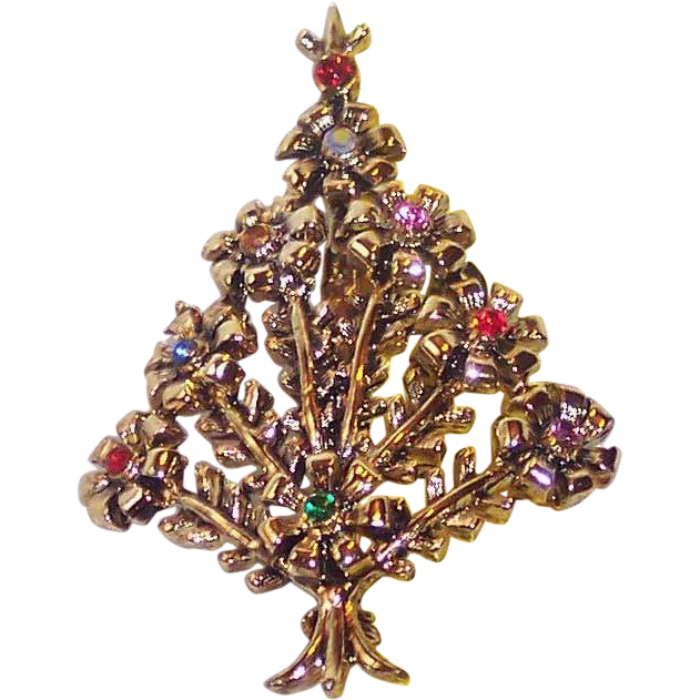 Beatrix Pom Pom Christmas Tree Pin ~ Book Piece