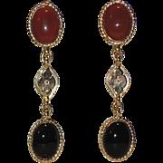 Accessocraft N.Y.C. Runway Etruscan Revival Drop Earrings ~ RARE