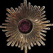 Accessocraft N.Y.C. 1960's Atomic Starburst Pin, Pendant