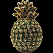 Ciner Signed Pineapple Fruit Figural Brooch