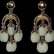 Trifari 1970's Waterfall Chandelier Earrings, RARE Book Piece