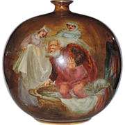 Doulton Burslem Turn of the Century Merry Wives of Windsor Spherical Vase, W. Nunn Artist Signed, VERY RARE