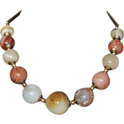 1970's Agate Chunky Stone Necklace
