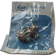 Nuvo of England Crystal & Sterling Silver Pitcher Charm ~ Mint in Original Package