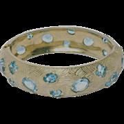 Castlecliff 1950's Aqua Stone Bangle Bracelet