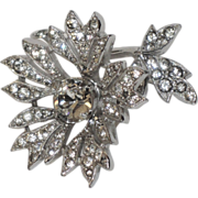 Christian Dior by Kramer Trembler 3D Flower Rhinestone Brooch