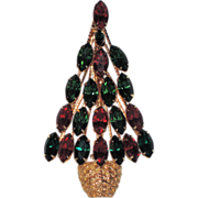 Napier Topiary Christmas Tree Pin ~ Book Piece