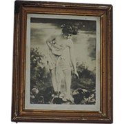 Early 1900's Skinny Dip Erotica Framed Photograph