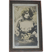 Early 1900's Flapper Erotica Framed Photograph