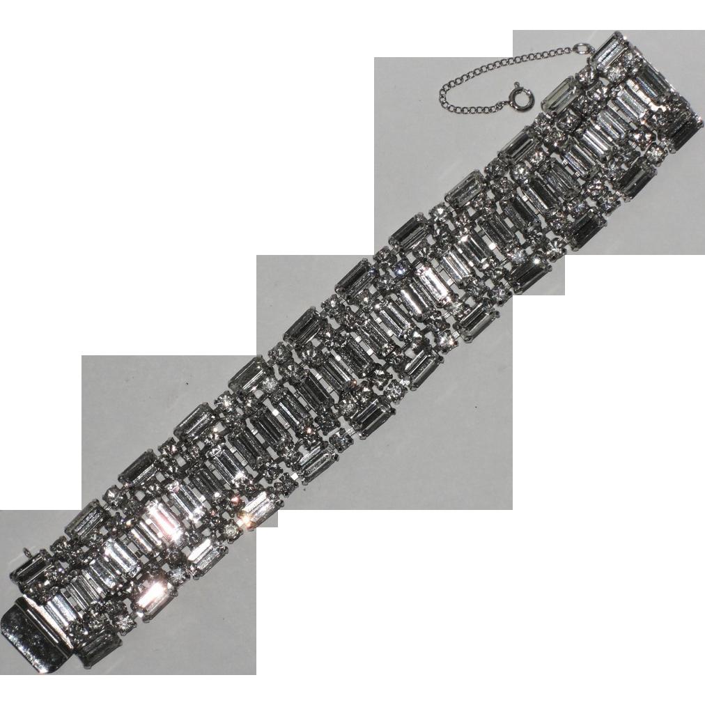 Kramer of New York Baguette Rhinestone Bracelet ~ Pristine