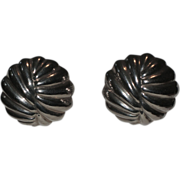 Talleres De Los Ballesteros Taxco Modernist Sterling Silver Earrings