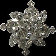 Weiss Mini Pinwheel Snowflake Brooch