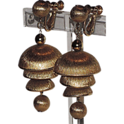 Napier 1953 Anne Fogarty Chime Bells Earrings ~ Book Piece